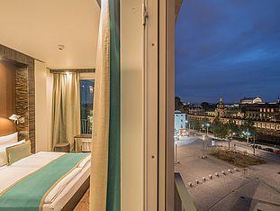 [Translate to English:] Hotel Dresden am Zwinger Zimmer mit Aussicht
