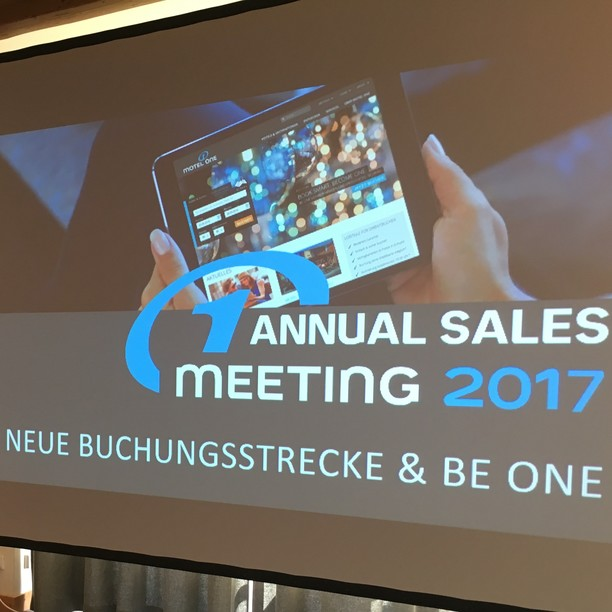 At the annual sales meeting, all Motel One Sales Managers meet