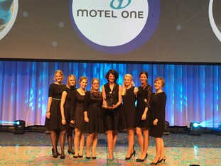 Motel One team winning the German Marketing Award