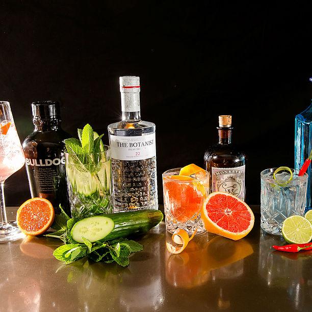 gin bar 40 lieblings gins gin tonic motel one hotels. Black Bedroom Furniture Sets. Home Design Ideas